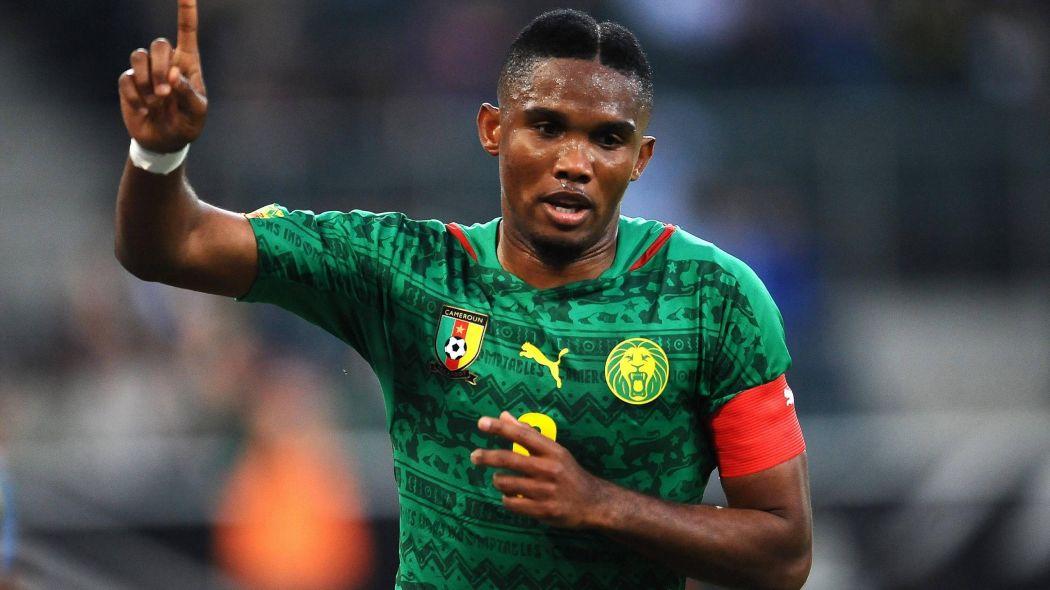 Eto'o aux couleurs du Cameroun, Droits réservés