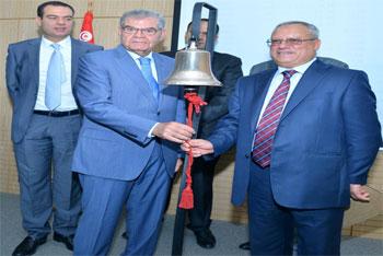La cloche de la Bourse de Tunis a sonné ce matin du lundi
