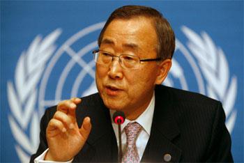Le secrétaire général de l'ONU