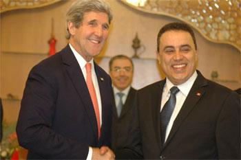 Le secrétaire d'Etat américain John Kerry est arrivé