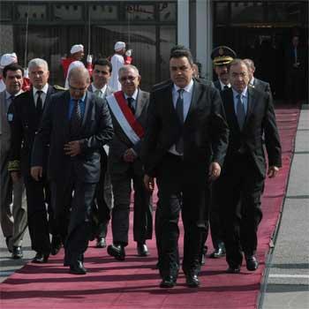 Mehdi Jomaa chef du gouvernement provisoire qui effectue les 28 et 29 avril courant une visite officielle en France