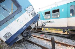 Deux trains sont entrés