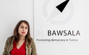 La Présidente de l'association Al Bawsla