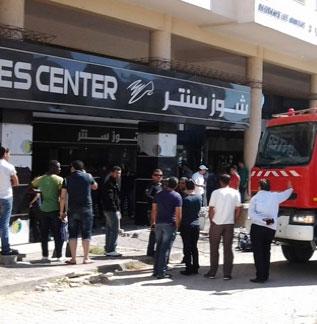 Un incendie s'est déclaré dans un entrepôt appartenant à la boutique de chaussures Shoes-Center