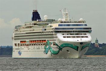 Le paquebot « Norwegian Jade » de la compagnie américaine de navires et de croisières