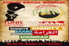 Les participants tunisiens et étrangers au Forum social mondial ( FSM) tenu du 26 au 30 mars