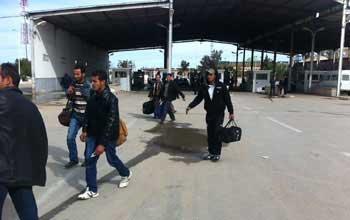 Une grande affluence de Libyens a été enregistrée