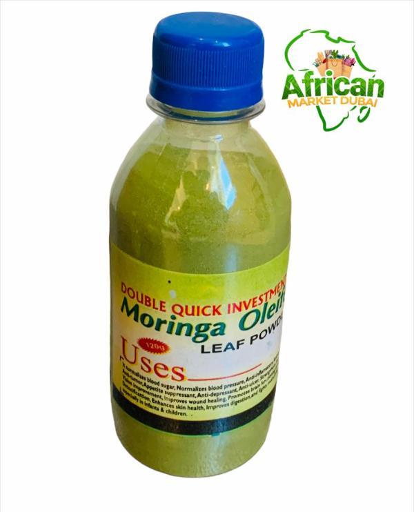 Raw organic Moringa leaf powder (100ml)