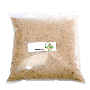 Raw Cleaned Ofada Rice -100% Whole grain -1kg