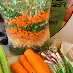 Organic diced fresh mixed veggies 600g