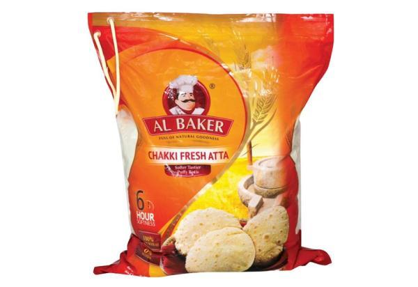 Al Baker Chakki Fresh Atta 100% Whole Wheat 2kg