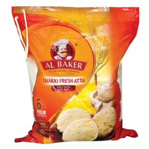 Al Baker Chakki Fresh Atta 100% Whole Wheat 2kg