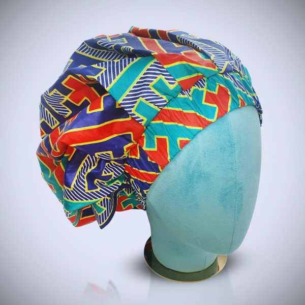 African Ankara Satin Hair Bonnet - Large size