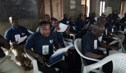 Akpakip Oro WBSET Training on Student enrollment