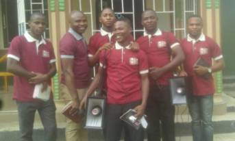 Our WBSET at Ikot Osute with a hired MegaPhone to Evangelism