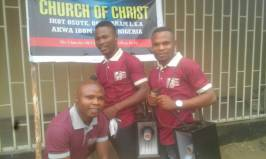 Our WBSET at IkotOsute with a hired MegaPhone to Evangelism2