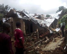 A Widow & Newly baptized sister House Damage by Rainstorms2