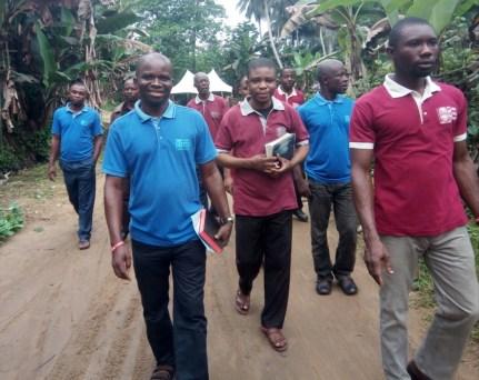 Evangelistic walk at Ata Essien Obio Akpa village