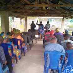 Mojima Etokudo preaching at Church of Christ, Ikot Ideh