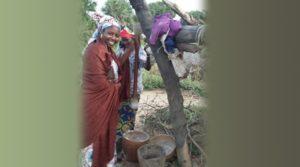 Ms Aliyu with nomadic women in a ruga