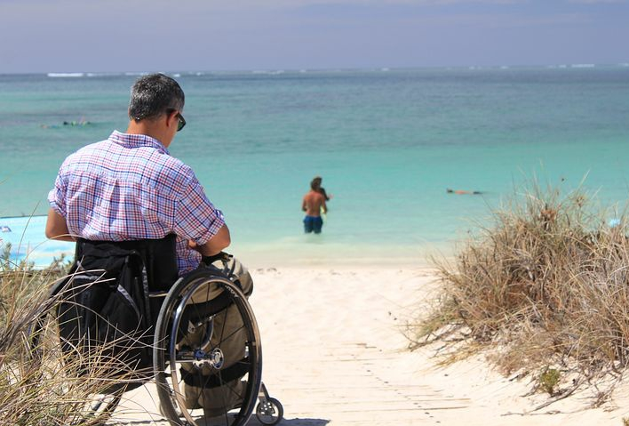 A disabled person who is grateful