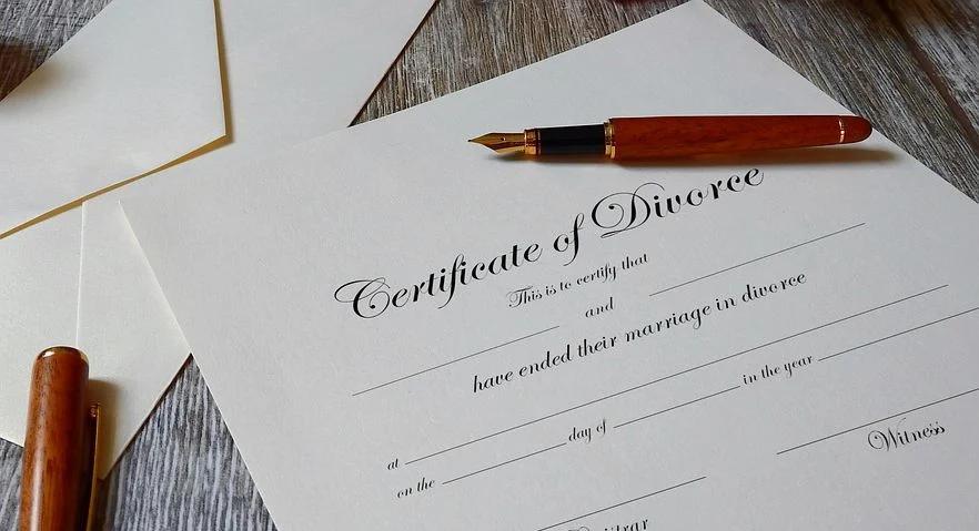 Divorce certificate
