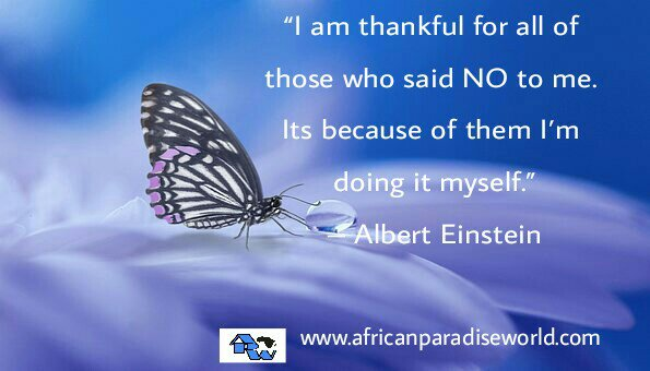 Albert Einstein: I thankful for all those who said NO.