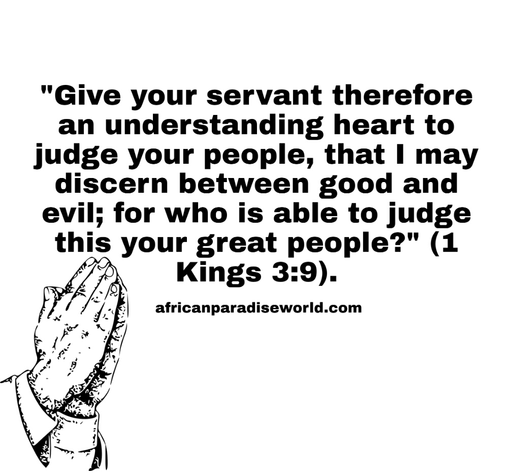 Wisdom from above prayer from King Solomon
