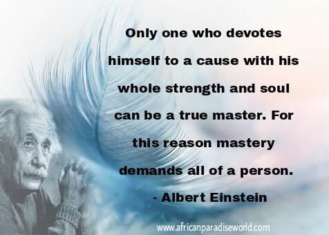Albert Einstein's inspirational quote