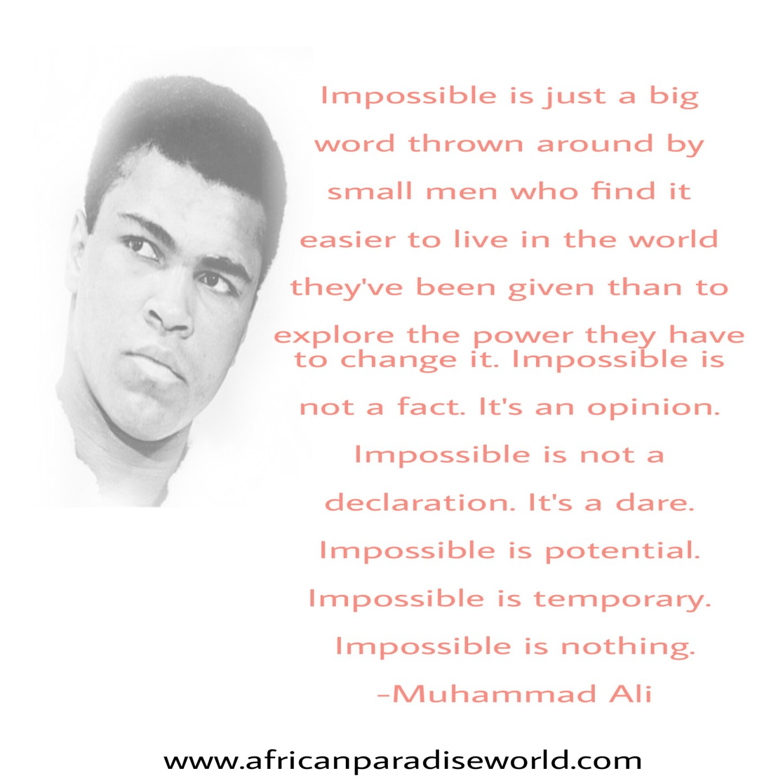 Best inspirational quote of Muhammad Ali