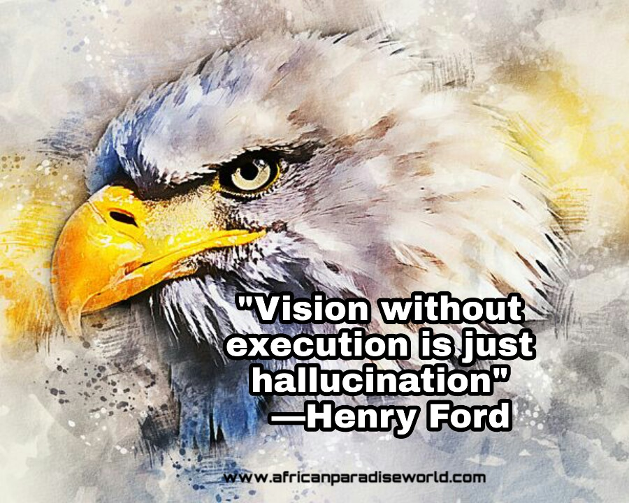 Vision without execution wise quote from Henry Ford
