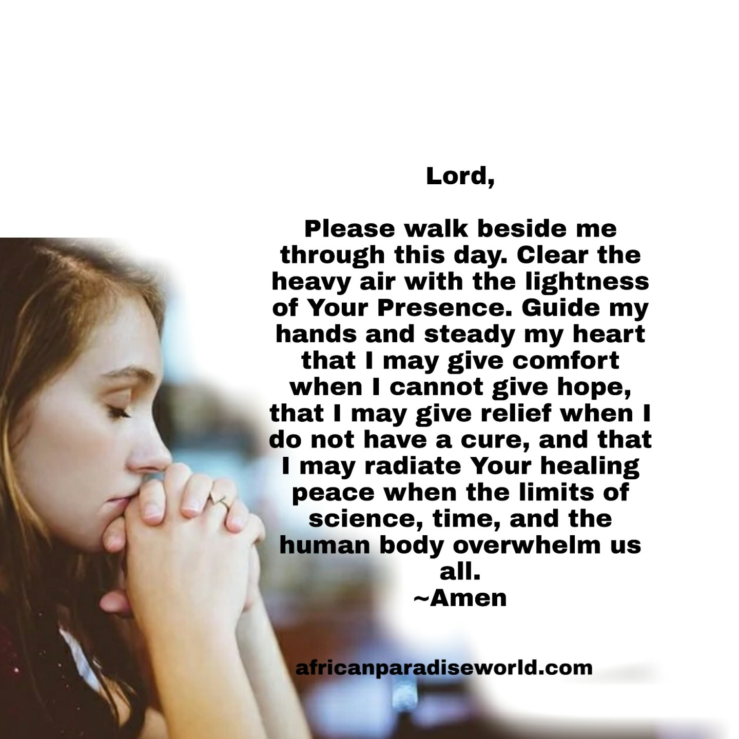 Prayer for a healthy life
