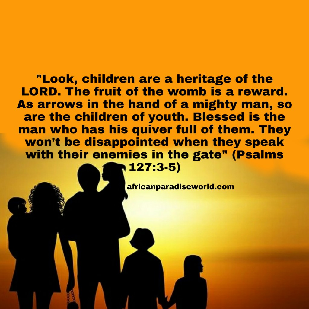 Bible verse about Children being a heritage