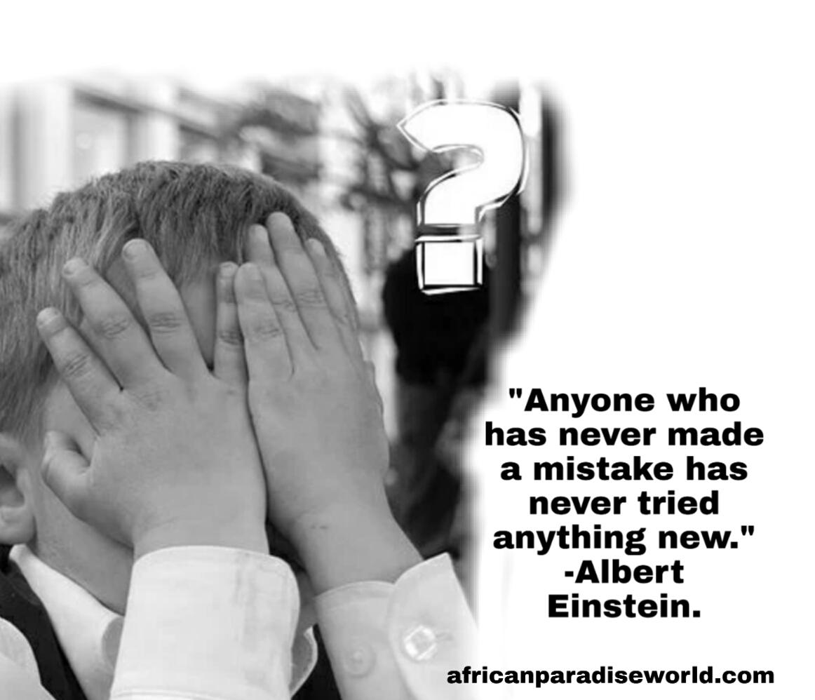 Quote about mistakes from Albert Einstein