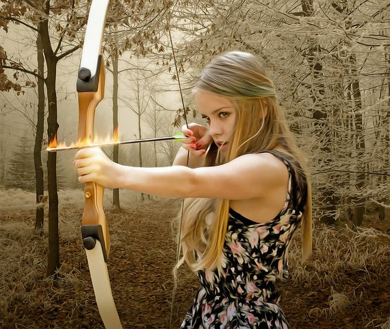 Bow and arrow to fight the enemies of God