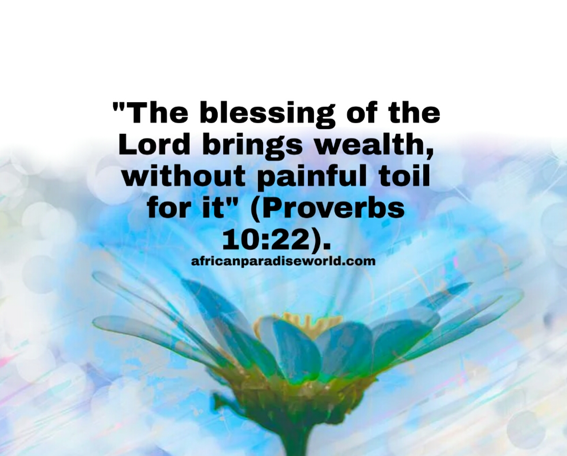 Blessings of the Lord from Proverbs 10: 22