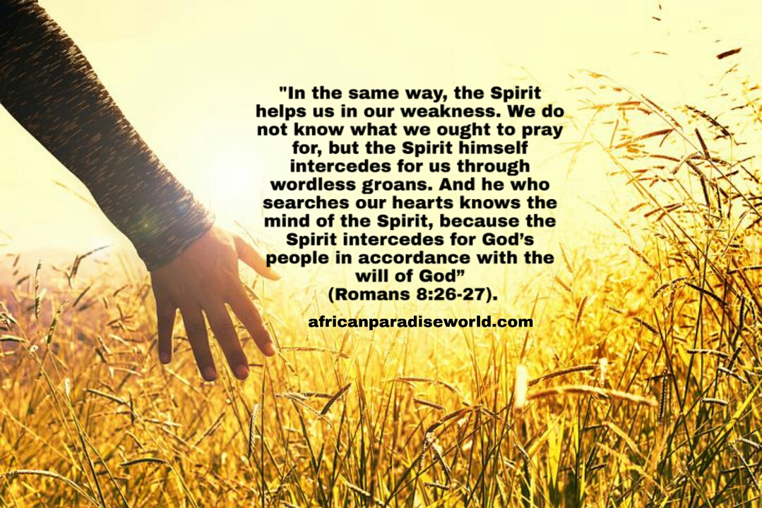 The Holy Spirit Powers us to talk to God verse