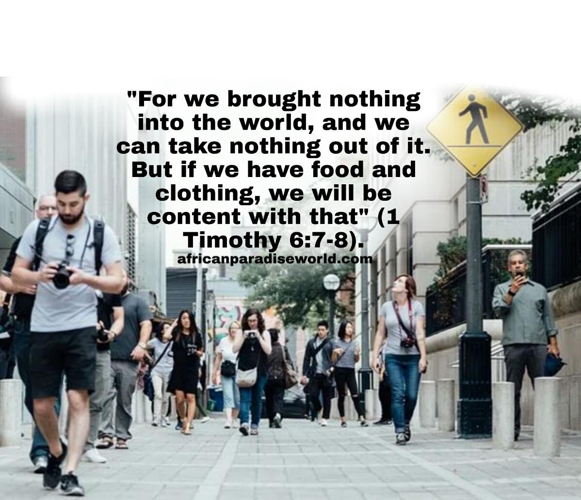 1 Timothy 6:7-9verse