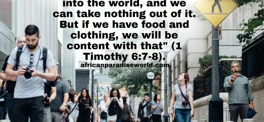 Timothy 6:7-9 verse