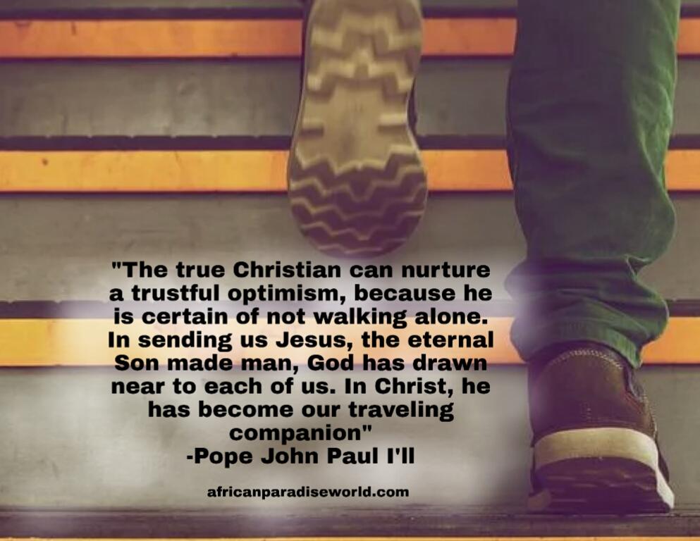 A true Christian's self confidence quote