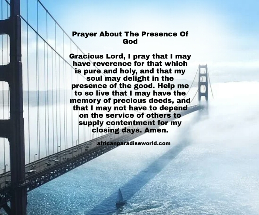 Prayer for today about God's presence