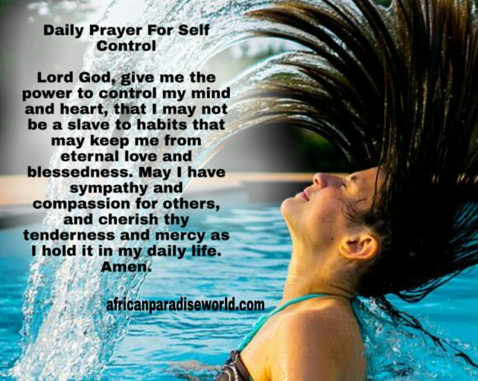 Prayer for today for self control