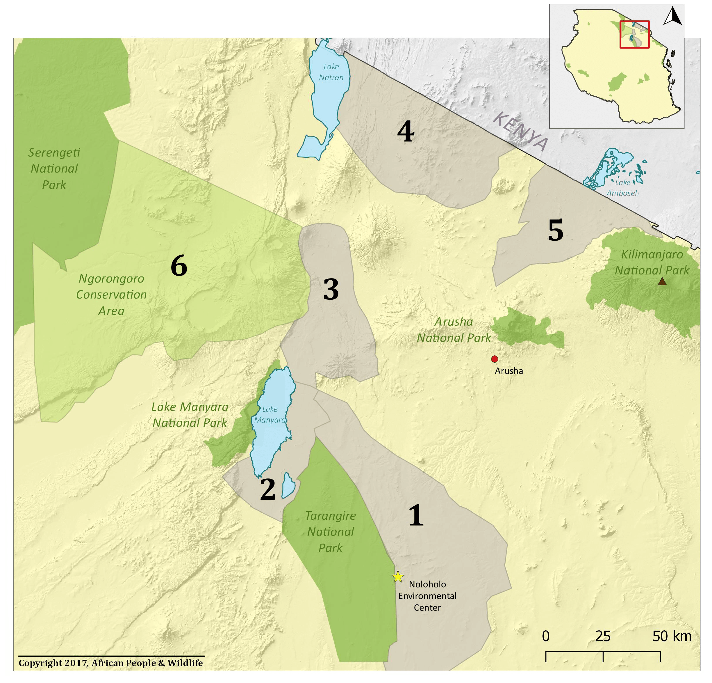 APW map of conservation landscapes
