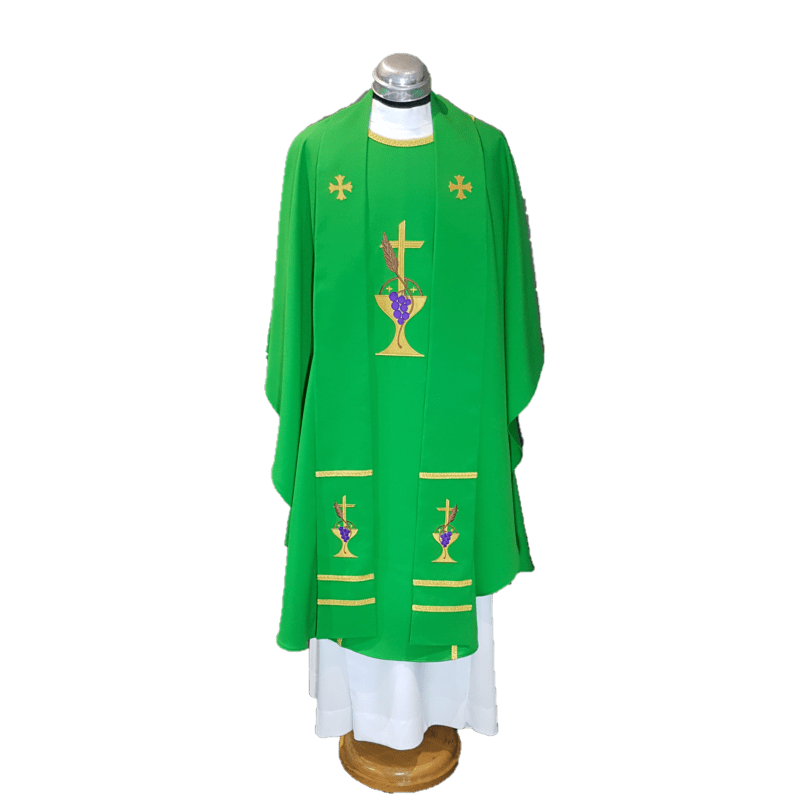 chasuble & stole chalice & grapes