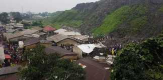 Landslide caused by garbage Guinea