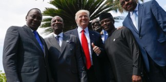 US president, Donald Trump and some African leaders