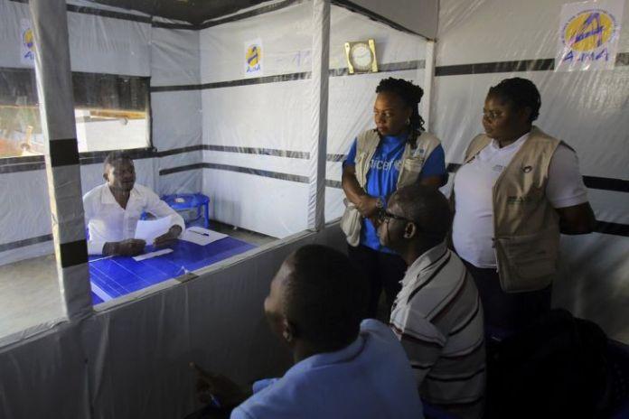 Claude Mabowa at Ebola treatment centre