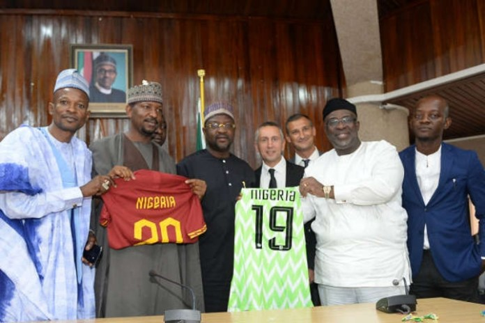Italian giants, AS Roma have signed an agreement with the Nigeria Football Federation (NFF) to become their first African partner.