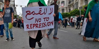 Algerian army chief bans public protests in the capital