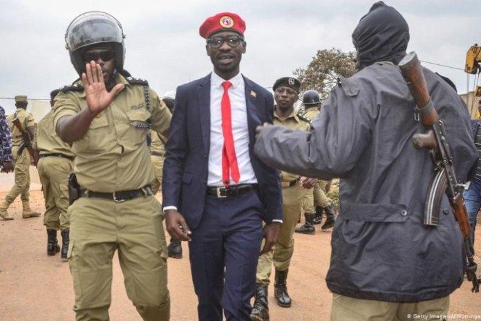 Ugandan presidential hopeful Bobi Wine and campaign team arrested